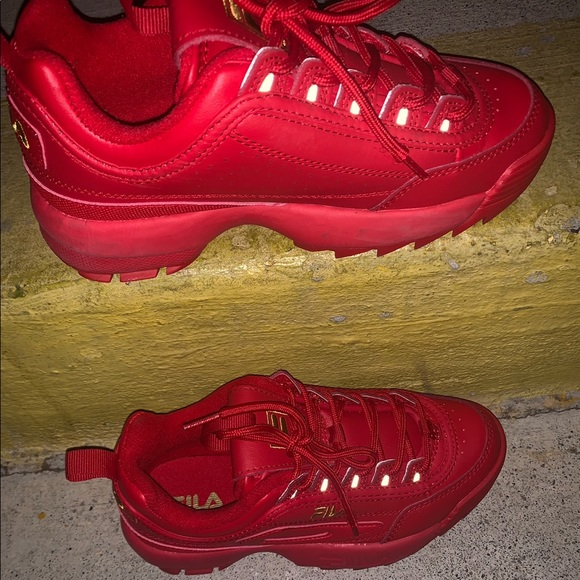 red and gold fila
